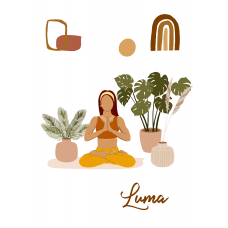 Padmasana Yoga Collection Notebook    Agenda