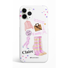 Pink Sock Boots I Love Paris Phone Case